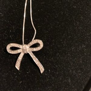 Sterling Silver Necklace with Diamond Accents